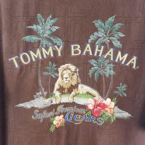 Tommy Bahama Safari Premium Cigars Camp Shirt L